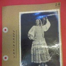 Cine: MERCEDES SEROS. ACTRIZ VARIEDADES FOTO FIRMADA Y DEDICADA. AÑOS 1930S. Lote 145969326