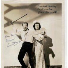 Cine: FOTOGRAFIA DE LOUIS HAYWARD Y JOAN BENNETT - FIRMADAS A MANO - HAND SIGNED -. Lote 146535594