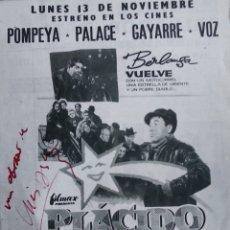 Kino - Berlanga autografo Placido en publicidad original de revista estreno - 147109690