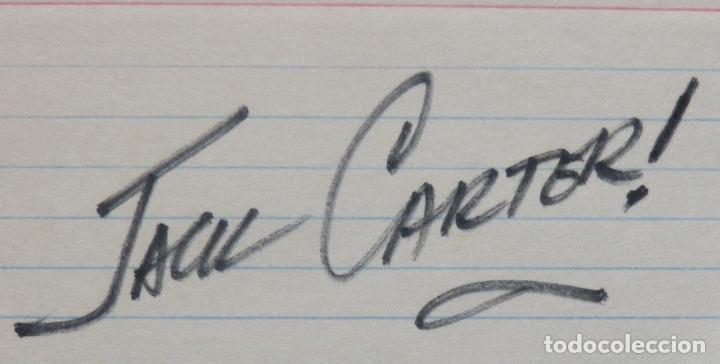 Cine: Tarjeta firmada de Jack Carter 13 X 8 Cms - Foto 2 - 147184218