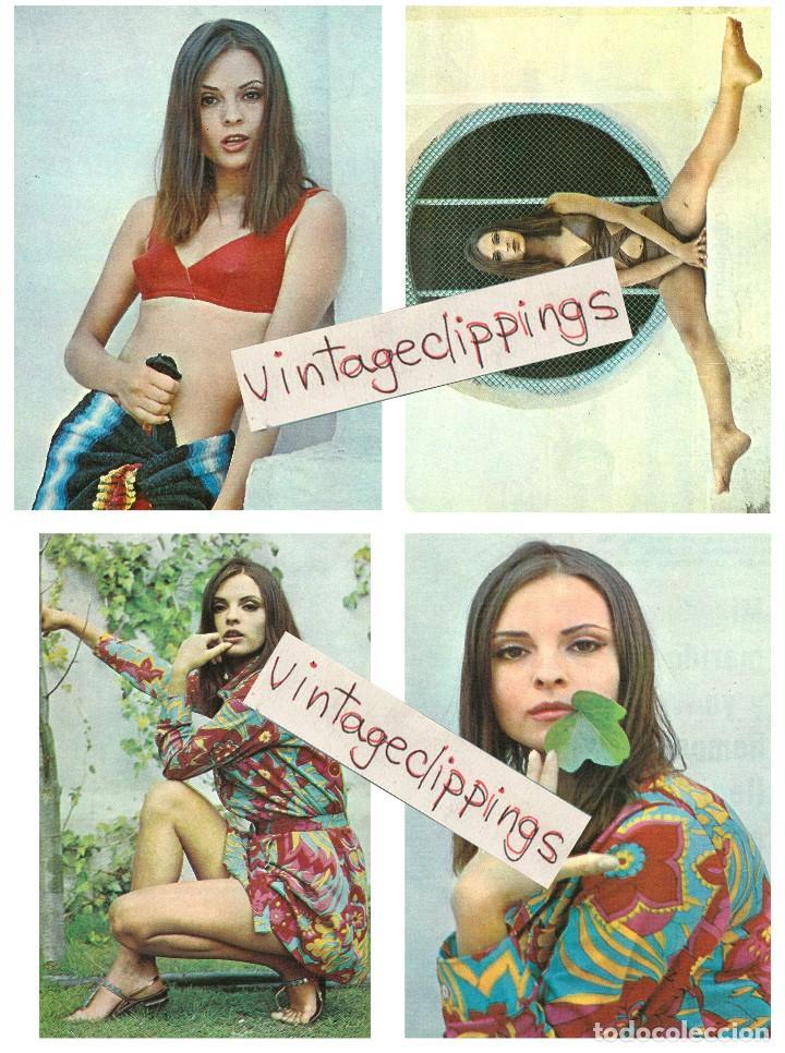 SOLEDAD MIRANDA 4X 1969 PHOTOS 11X15CM SEXY CANDID SPAIN ACTRESS FOTOS (Cine - Autógrafos)