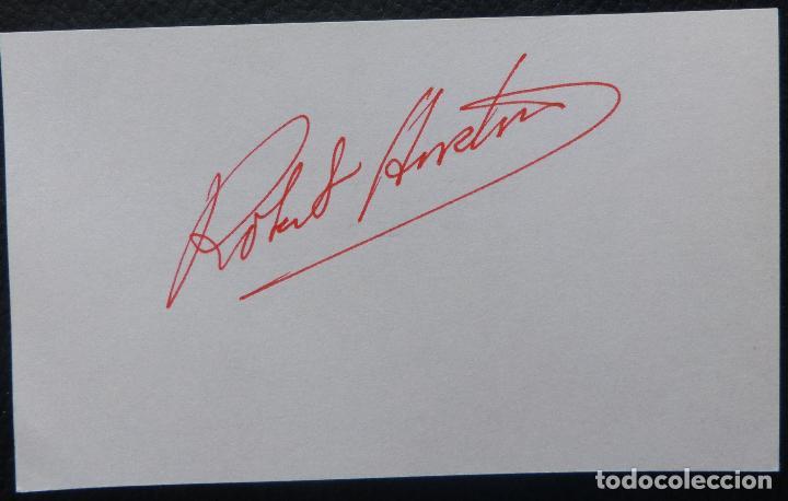 Cine: Autografo en Tarjeta firmada de Robert Horton, (Actor) - Foto 2 - 147586602