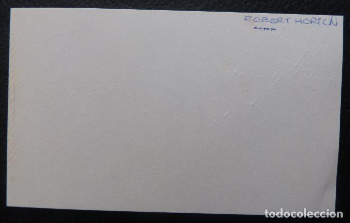 Cine: Autografo en Tarjeta firmada de Robert Horton, (Actor) - Foto 3 - 147586602