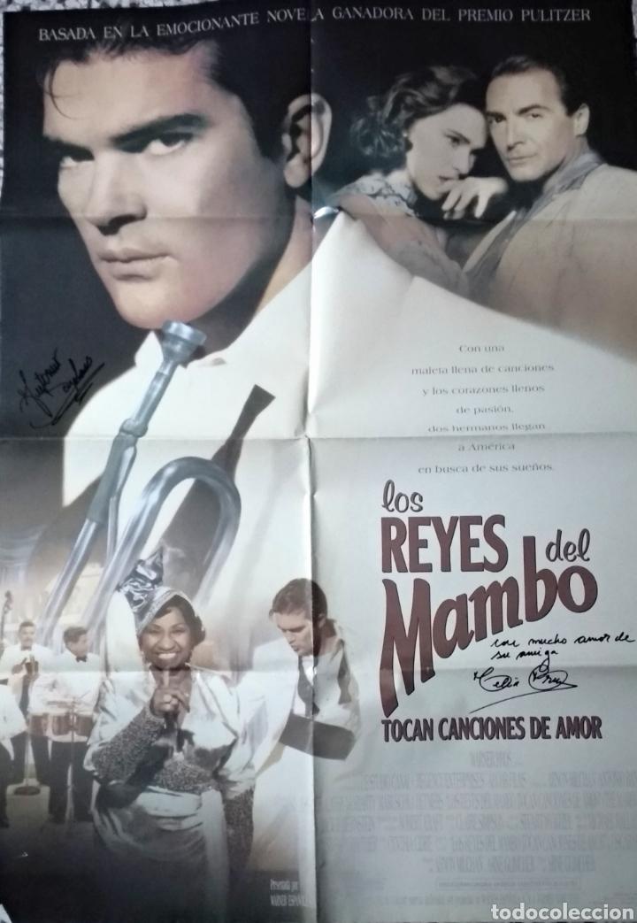 Cine: Celia Cruz y Antonio Banderas autografos en poster original 70x100 - Foto 2 - 147711228