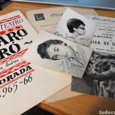 Cine: 2 FOTOGRAFÍAS DEDICADAS DE AMPARO BARO Y TRE PROGRAMAS DE SU COMPAÑIA. Lote 149950926