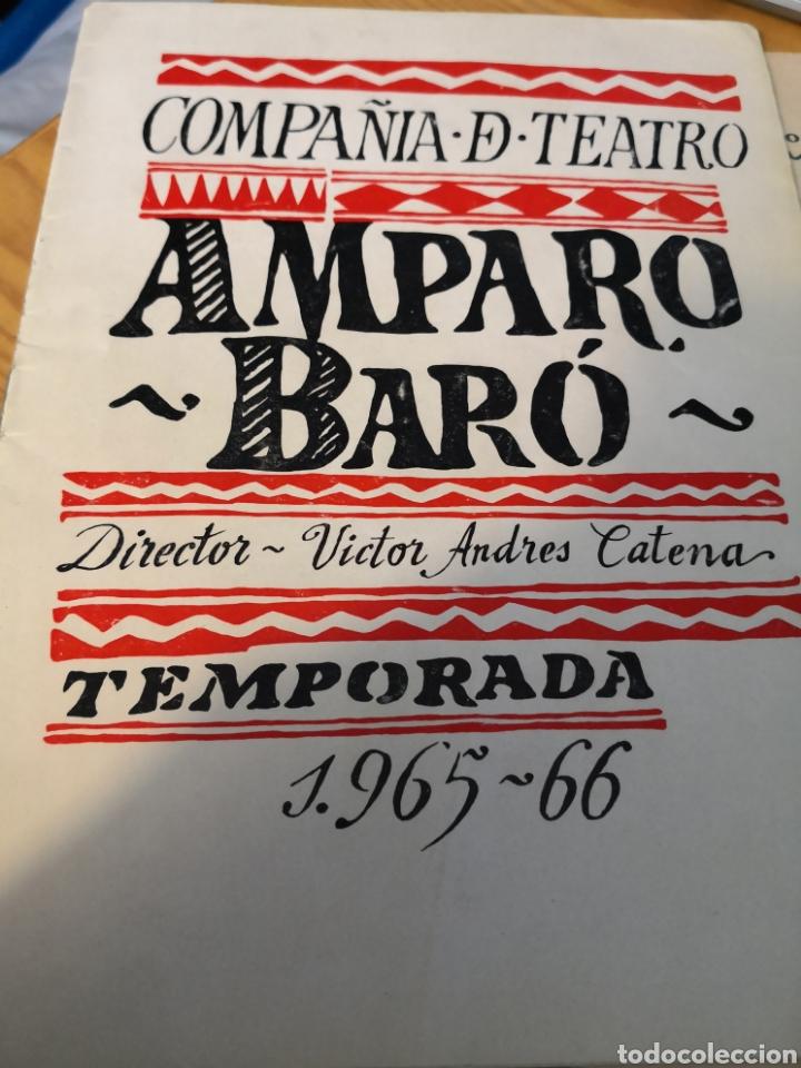 Cine: 2 fotografías dedicadas de amparo baro y tre programas de su compañia - Foto 2 - 149950926