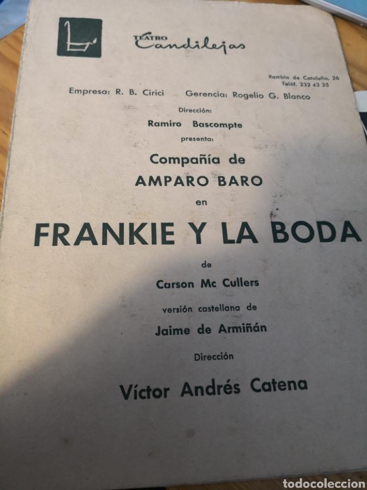 Cine: 2 fotografías dedicadas de amparo baro y tre programas de su compañia - Foto 3 - 149950926
