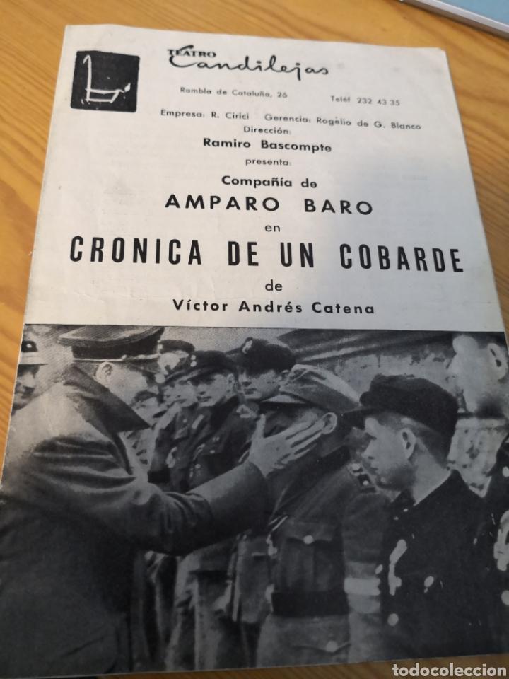Cine: 2 fotografías dedicadas de amparo baro y tre programas de su compañia - Foto 4 - 149950926
