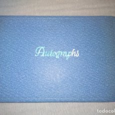 Cine: LIBRO AUTOGRAFOS AÑOS 60 ACTORES Y CANTANTES. Lote 151962086