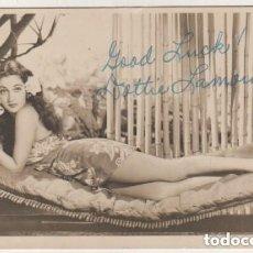 Cine: FOTOGRAFÍA ORIGINAL CON FIRMA DE LA ACTRIZ DE CINE DOROTHY LAMOUR. Lote 155822234