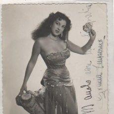 Cine: FOTOGRAFÍA TAMAÑO POSTAL GRACIA IMPERIO CON AUTÓGRAFO ORIGINAL 1951 LA MEDIA NARANJA.. Lote 155822530