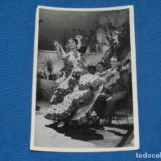 Cine: (M) LOLA FLORES - FOTOGRAFIA AUTOGRAFIADA ORIGINAL, 18 X 12 CM, SEÑALES DE USO. Lote 162168346