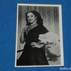 Cine: (M) LOLA FLORES - FOTOGRAFIA Y DEDICATORIA ORIGINAL ,ESCENA DE LA PELICULA EL TORBELLINO, AÑOS 50, . Lote 162168890