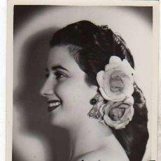 Cine: FOTOGRAFIA ORIGINAL FORMATO POSTAL. AUTOGRAFO DEDICATORIA ANTOÑITA MORENO. 1952. Lote 165041982