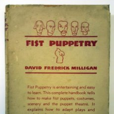 Cine: BOOK FIST PUPPETRY SIGNED BY NICHOLAS RAY. LIBRO FIST PUPPETRY FIRMADO POR NICHOLAS RAY.. Lote 165355270