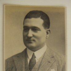 Cine: FOTOGRAFIA CON AUTOGRAFO DEL ACTOR JOSE MARIA CANONGE 1926. Lote 166435422