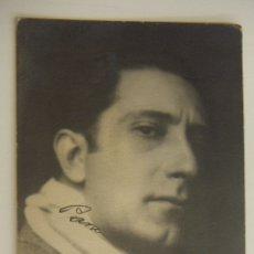Cine: FOTOGRAFIA CON AUTOGRAFO DE ACTOR A IDENTIFICAR 1928. Lote 166811250