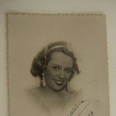 Cine: FOTOGRAFIA CON AUTOGRAFO DE ACTRIZ A IDENTIFICAR 1934. Lote 166817782