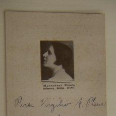 Cine: FOTOGRAFIA CON AUTOGRAFO DE LA ACTRIZ MONTSERRAT BLANCH 1926. Lote 166819154
