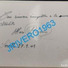 Cine: AUTOGRAFO ORIGINAL DE LA ACTRIZ MARI BEGOÑA. Lote 175949570