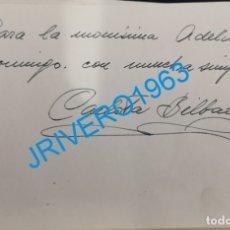 Cine: AUTOGRAFO ORIGINAL DE LA ACTRIZ CARLOTA BILBAO. Lote 175949648