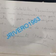 Cine: AUTOGRAFO ORIGINAL DE LA ACTRIZ AMPARITO MARTI. Lote 176036299
