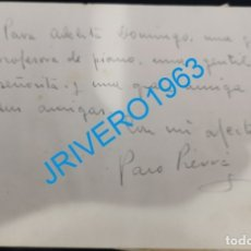 Cine: AUTOGRAFO ORIGINAL DEL ACTOR PACO PIERRA. Lote 176036354