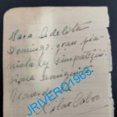 Cine: AUTOGRAFO ORIGINAL DE LA ACTRIZ PILAR CALVO. Lote 176230138