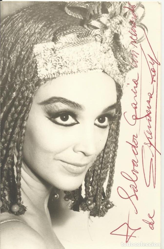 ESPERANZA ROY. FIRMA, AUTÓGRAFO ORIGINAL. FOTOGRAFÍA DEDICADA. 14X9 CM. BUEN ESTADO. EGIPTO. (Cine - Autógrafos)