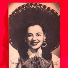 Cine: IRMA VILA FIRMA DEDICADA FOTO DE LA ARTISTA MEXICO MARIACHI VILA TAMAÑO POSTAL CANTANTE ACTRIZ. Lote 176798420
