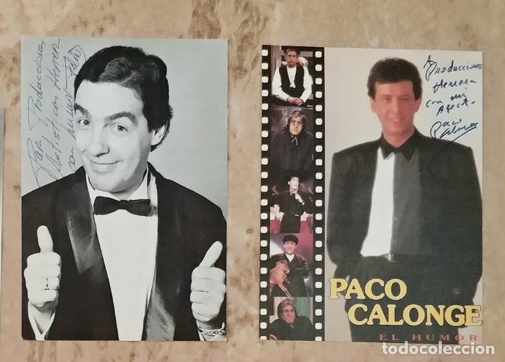 Cine: Lote de 5 fotografias postales humoristas autografo dedicatoria felix el gato paco calonge etc - Foto 3 - 178041963