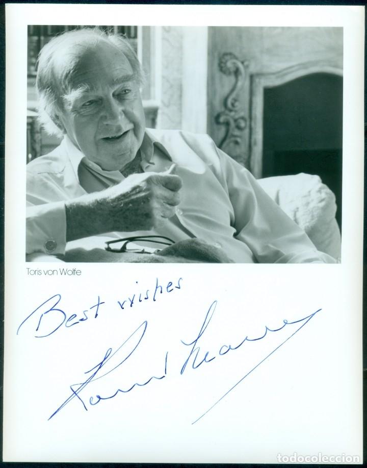AUTOGRAFO ORIGINAL DEL DIRECTOR RONALD NEAME (1911-2010) CON CERTIFICADO DE AUTENTICIDAD. (Cine - Autógrafos)