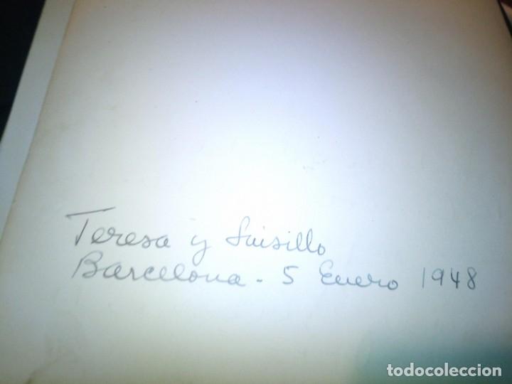 Cine: ~~~~ FOTO DEDICADA Y AUTOGRAFIADA DE TERESA Y LUISILLO, BARCELONA 1948. MIDE 24X18 . ~~~~ - Foto 3 - 178385530