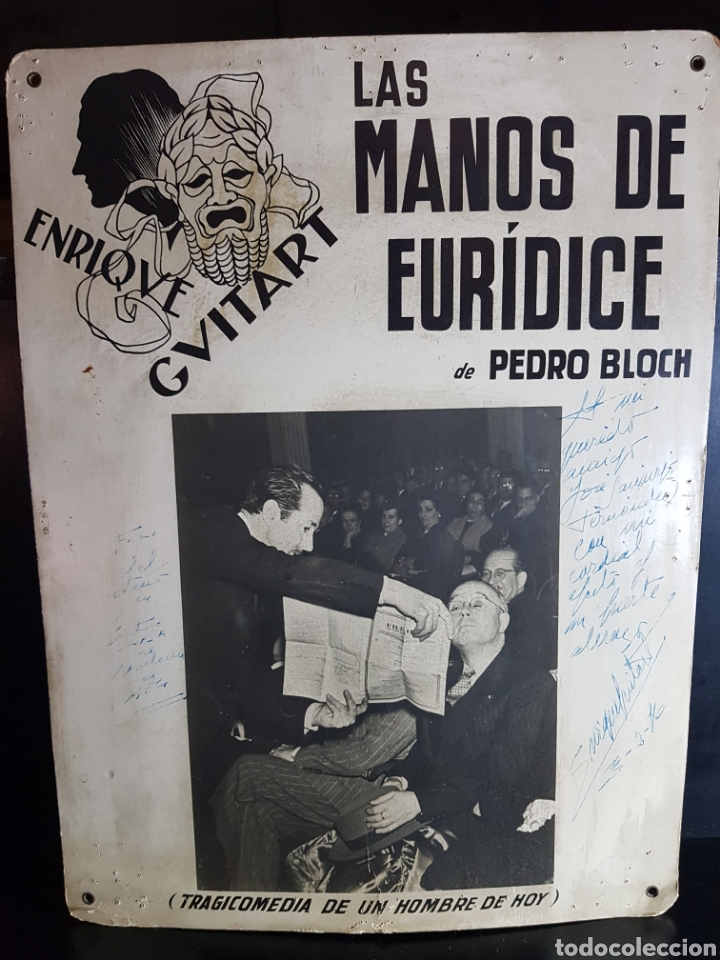 ANUNCIO DE OBRA DE TEATRO DEDICADA Y FIRMADA POR ENRIQUE GUITART (ACTOR) (Cine - Autógrafos)
