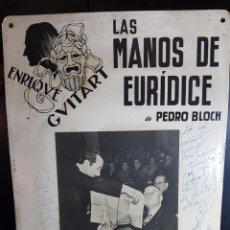 Cine: ANUNCIO DE OBRA DE TEATRO DEDICADA Y FIRMADA POR ENRIQUE GUITART (ACTOR). Lote 180232510