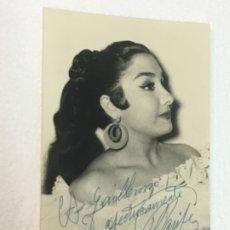 Cine: EXCELENTE FOTOGRAFIA AUTOGRAFO ORIGINAL ARTISTA MARIFE DE TRIANA CA.1940, 9X14 CMTS, EXCELENTE. Lote 182666446