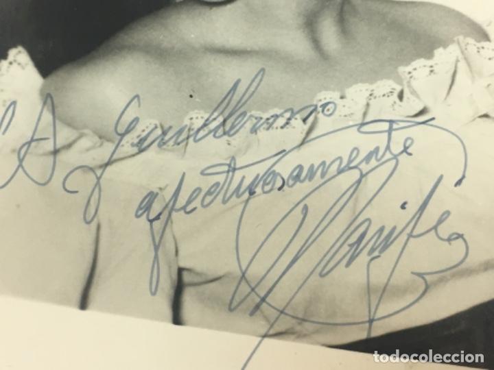 Cine: EXCELENTE FOTOGRAFIA AUTOGRAFO ORIGINAL ARTISTA MARIFE DE TRIANA CA.1940, 9X14 CMTS, EXCELENTE - Foto 2 - 182666446