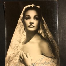 Cine: TARJETA CON AUTÓGRAFO DE CARMEN SEVILLA 14X9 CM. Lote 183620388