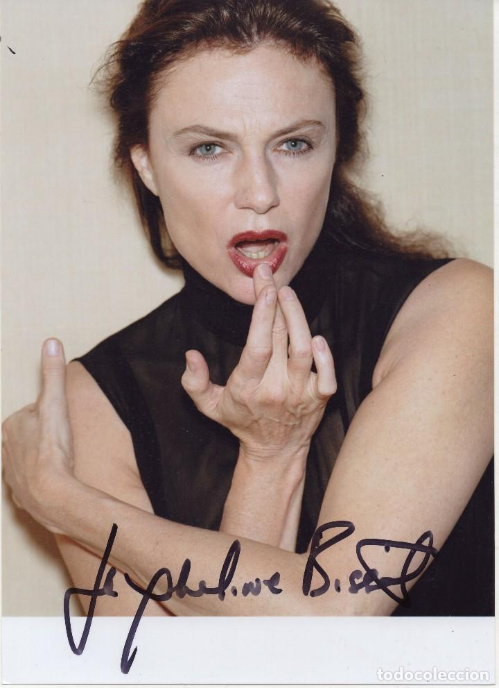 JACQUELINE JACKIE BISSET FOTO FIRMADA AUTOGRAFO ORIGINAL HAND SIGNED 20X15CM SEXY PHOTO (Cine - Autógrafos)