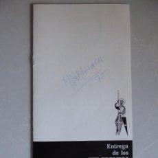 Cinema: AUTÓGRAFO DE ADOLFO MARSILLACH EN GUIA ENTREGA XIX PREMIS SANT JORDI CINEMATOGRAFIA 1975. Lote 187468763