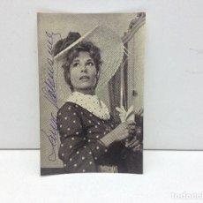 Cine: POSTAL PUBLICITARIA CON AUTOGRAFO ORIGINAL DE LAURA VALENZUELA. Lote 188409881