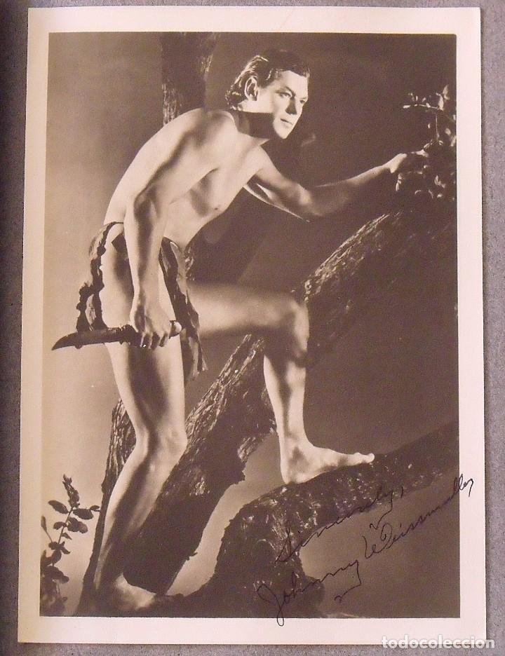 ÁLBUM AUTÓGRAFOS ESTRELLAS HOLLYWOOD AÑOS 40. JOHNNY WEISSMÜLLER, GLEN FORD, BING CROSBY, ETC. (Cine - Autógrafos)