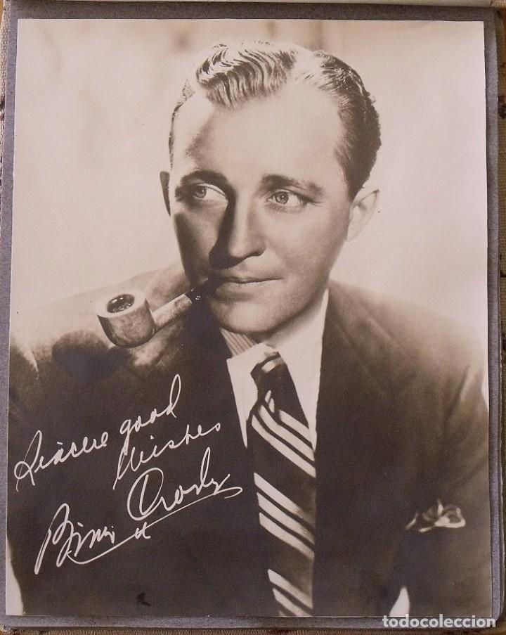 Cine: Álbum autógrafos estrellas Hollywood años 40. Johnny Weissmüller, Glen Ford, Bing Crosby, etc. - Foto 4 - 189938211