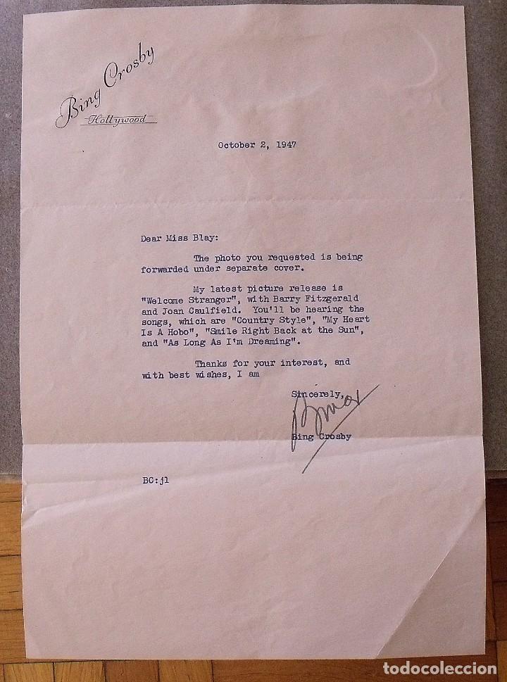 Cine: Álbum autógrafos estrellas Hollywood años 40. Johnny Weissmüller, Glen Ford, Bing Crosby, etc. - Foto 5 - 189938211