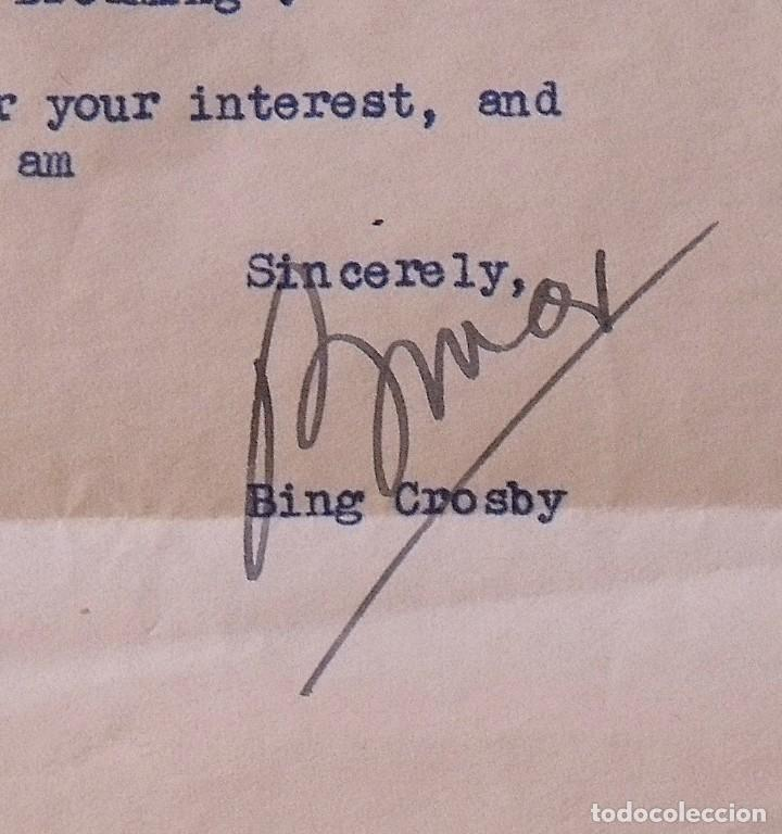 Cine: Álbum autógrafos estrellas Hollywood años 40. Johnny Weissmüller, Glen Ford, Bing Crosby, etc. - Foto 6 - 189938211