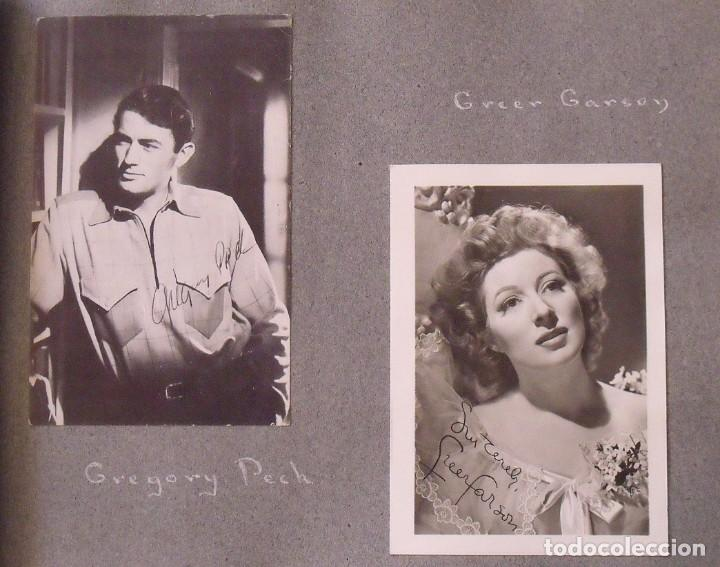 Cine: Álbum autógrafos estrellas Hollywood años 40. Johnny Weissmüller, Glen Ford, Bing Crosby, etc. - Foto 7 - 189938211