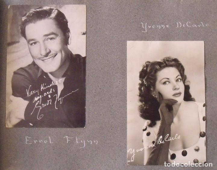 Cine: Álbum autógrafos estrellas Hollywood años 40. Johnny Weissmüller, Glen Ford, Bing Crosby, etc. - Foto 8 - 189938211
