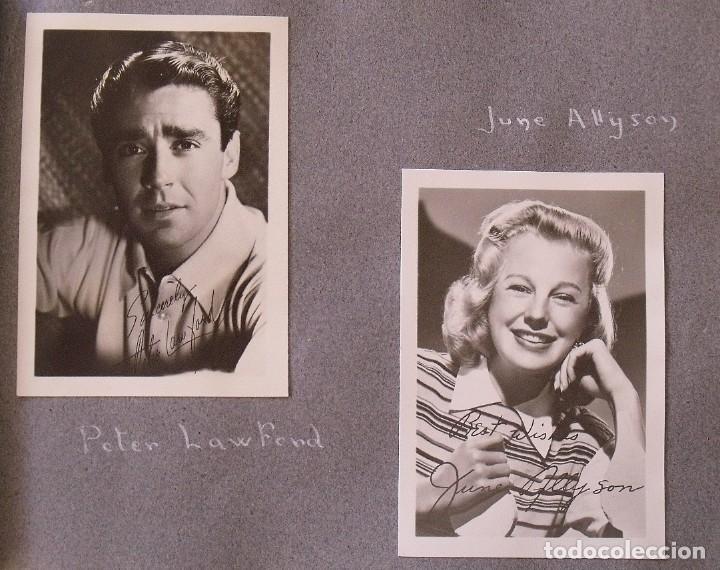 Cine: Álbum autógrafos estrellas Hollywood años 40. Johnny Weissmüller, Glen Ford, Bing Crosby, etc. - Foto 9 - 189938211