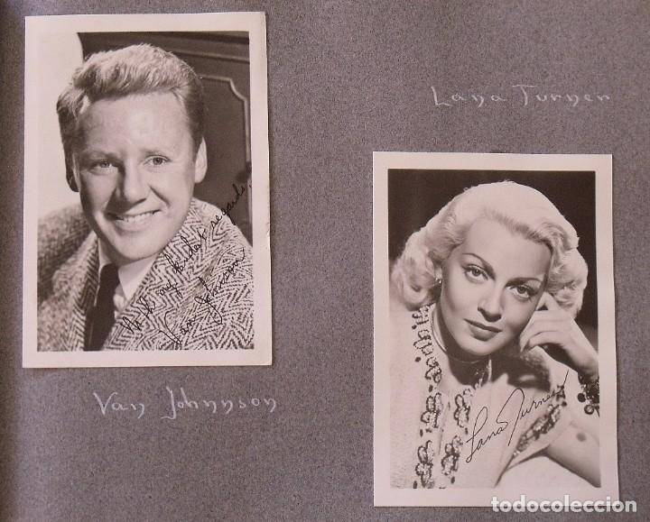 Cine: Álbum autógrafos estrellas Hollywood años 40. Johnny Weissmüller, Glen Ford, Bing Crosby, etc. - Foto 11 - 189938211