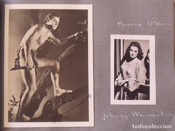 Cine: Álbum autógrafos estrellas Hollywood años 40. Johnny Weissmüller, Glen Ford, Bing Crosby, etc. - Foto 12 - 189938211